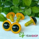 22mm Yellow Safety Eyes / Plastic Eyes / Animal Eyes - 2 Pairs