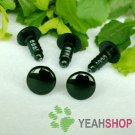 8mm Black Round Flat Safety Eyes / Plastic Eyes / Animal Eyes - 10 Pairs