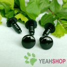 12mm Black Round Flat Safety Eyes / Plastic Eyes / Animal Eyes - 5 Pairs