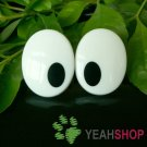 27mmx21mm (B) Oval Comic Eyes / Safety Eyes / Printed Eyes