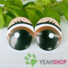 31mmx39mm Eyelash Comic Eyes / Safety Eyes / Printed Eyes