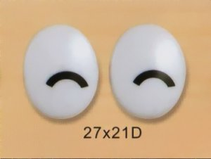 27mmx21mm (D) Oval Comic Eyes / Safety Eyes / Printed Eyes