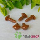 9mm Brown Triangle Safety Nose / Plastic Nose / Animal Nose - 10 pcs
