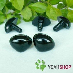 20mm Black Triangle Safety Nose / Plastic Nose / Animal Nose - 5 pcs