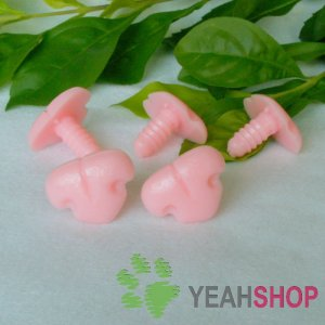 20mm Pink Cat Nose / Safety Nose / Plastic Nose - 5 pcs
