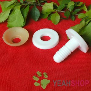 20mm Doll Joints / Animal Joints / Bear Joints / Safety Joints - White Color - 4 Sets