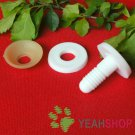 30mm Doll Joints / Animal Joints / Bear Joints / Safety Joints - White Color - 4 Sets