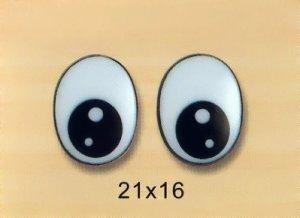 21mmx16mm Oval Comic Eyes / Safety Eyes / Printed Eyes
