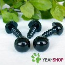40mm Black Safety Eyes / Plastic Eyes - 2 pairs