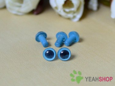 6mm Blue Safety Eyes / Plastic Eyes / Animal Eyes - 5 Pairs