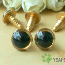 12mm Golden Safety Eyes / Plastic Eyes / Animal Eyes - 5 Pairs