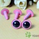 12mm Pink Safety Eyes / Plastic Eyes / Animal Eyes - 5 Pairs