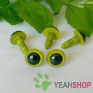 10mm Grass Green Safety Eyes / Plastic Eyes / Animal Eyes - 5 Pairs