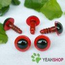 8mm Red Safety Eyes / Plastic Eyes / Animal Eyes - 5 Pairs