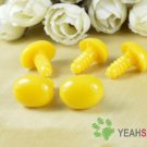 16mmx12mm Yellow Oval Safety Nose / Plastic Nose - 5 pcs