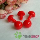 10mm Red Round Nose / Safety Nose / Clown Nose - 10 pcs
