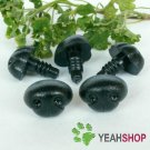 15mmx11mm Black Dog Nose / Safety Nose /Plastic Nose - 5 pcs
