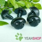 25mmx20mm Black Dog Nose / Safety Nose /Plastic Nose - 5 pcs