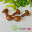 12mm Brown Triangle Safety Nose / Plastic Nose / Animal Nose - 10 pcs