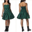 NWT Luella Bartley for Target Dark Green Navy Blue Tartan Check Party Dress M/L 13