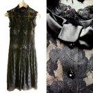 Cocoon Dressy Black Stretch Lace Cocktail Party Occasion Dress /w Satin Bows XXS