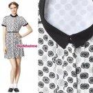 NWT Jason Wu for Target Cycle Wheel Dot Print Shirt Dress in Cream Gray Black XL