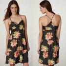 NWT AE Black Red Yellow Sweetheart Floral Print Swingy Tiered Sundress USD45 S 6