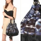 NWT Urban Outfitters Deux Lux Blue Black Watercolor Ikat Large Bucket Bag $59