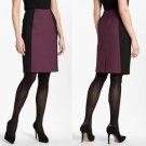 Halogen Colorblocked Seamed Pencil Skirt Purple Black Work Office NWT $69 PL 12P