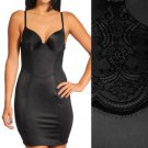 Maidenform Shapewear Slip Black with Lace Firm Control + Panty 2364 USD59 38C