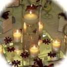 Set of 5 - Cylinder Glass Vase & Votive Candle Centerpiece with Floating Candle