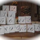 Shabby Chic Wedding Reception Self Standing Table Numbers 1 - 10 - Custom Made To Order
