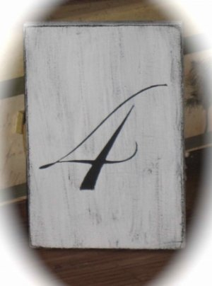 Shabby Chic Wedding Reception Self Standing Table Numbers - Custom Made To Order