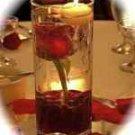 1 Rose Wedding Reception Glass Cylinder Vase Table Centerpieces