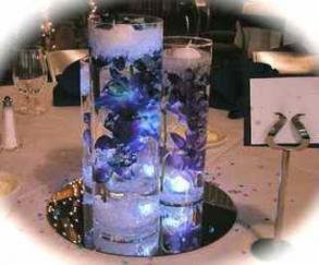 Set Of 3 Lily Wedding Reception Glass Vase Table Centerpiece Set - Custom Made To Order