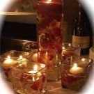 60 Piece (12 - 5 Piece Sets) Deluxe Orchids Wedding Reception Glass Vase Centerpieces