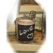 24 Chalkboard Votive Candles - Wedding Reception Favors - Custom Made To Order