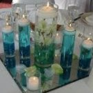 60 Piece Orchid Flower Heads Wedding Reception Glass Vase Table Centerpieces - Custom Made To Order