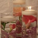 36 Calla Lilies & Peonies Wedding Reception Table Centerpieces With Floating Candles