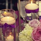 36 Piece Set Roses & Floating Candles Wedding Reception Table Centerpieces - Custom Made To Order