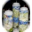 3 Piece Set Hydrangeas Wedding Reception Table Centerpiece - Custom Made To Order