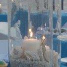 12 Beach Theme Destination & Candles Wedding Reception Table Centerpieces - Custom Made To Order