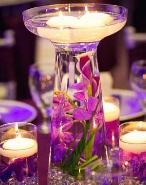 Set Of 6 Deluxe Calla Lily Orchid Glass Vase Wedding Reception Table Centerpieces