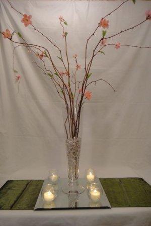 Silver Manzanita Tree with Beaded Garland Accents Wedding Centerpiece