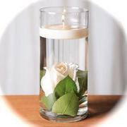 10 Rose Wedding Reception Glass Cylinder Vase Table Centerpieces