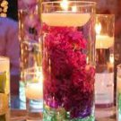 10 Piece Set - Hydrangeas Glass Vase Wedding Reception Table Centerpieces - Custom Made To Order