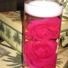 12 Rose Wedding Reception Glass Cylinder Vase Table Centerpieces