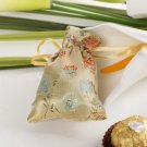 Chinese Style Flower Print Favor Bag – Small (Set of 12) - Gold