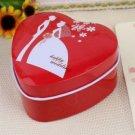"""Happy Wedding"" Red Heart Favor Tin (Set of 12)"