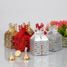 Double Happiness Cut–out Favor Box With Butterfly Top (Set of 12) - Red